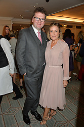 EWAN VENTERS and MIKA SIMMONS at the 3rd annual Gynaecological Cancer Fund Ladies Lunch at Fortnum & Mason, 181 Piccadilly, London on 29th September 2016.