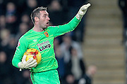 Allan McGregor (Hull City) during the Sky Bet Championship match between Hull City and Sheffield Wednesday at the KC Stadium, Kingston upon Hull, England on 26 February 2016. Photo by Mark P Doherty.