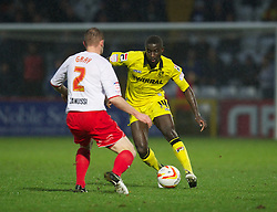 STEVENAGE, ENGLAND - Saturday, November 24, 2012: Tranmere Rovers' Zoumana Bakayogo in action against Stevenage during the Football League One match at Broadhall Way. (Pic by David Rawcliffe/Propaganda)