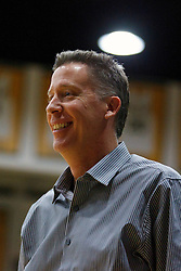 Nov 16, 2011; San Francisco CA, USA;  San Jose State Spartans head coach George Nessman smiles on the sidelines against the San Francisco Dons during the first half at War Memorial Gym.  Mandatory Credit: Jason O. Watson-US PRESSWIRE