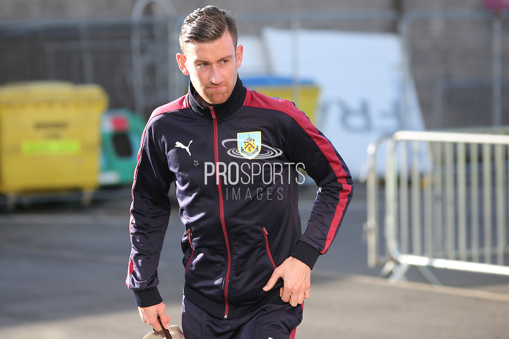 David Jones of Burnley arriving before the Sky Bet Championship match between Burnley and Middlesbrough at Turf Moor, Burnley, England on 19 April 2016. Photo by Simon Brady.