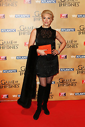 © Licensed to London News Pictures. 18/03/2015, UK. Hannah Waddingham (Septa Unella), Game of Thrones - Series Five World Premiere, Tower of London, London UK, 18 March 2015. Photo credit : Richard Goldschmidt/Piqtured/LNP