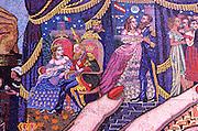 MEXICO, MEXICO CITY, MURALS Rivera mural, Emperor Maximilian, Carlota