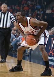 Virginia guard Jeff Jones (1) in action against Hampton.  The Virginia Cavaliers men's basketball team defeated the Hampton Pirates 79-65 at the John Paul Jones Arena in Charlottesville, VA on December 19, 2007.