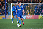 AFC Wimbledon defender Luke O'Neill (2) dribbling during the EFL Sky Bet League 1 match between AFC Wimbledon and Peterborough United at the Cherry Red Records Stadium, Kingston, England on 18 January 2020.