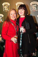 Valarie Murphy, Roscam  and Ali Elstone Galway City<br /> at the Jameson Cult Film Club screening of Friday the 13th Part 2 in the Black Box Theatre in Galway.  Photo:Andrew Downes
