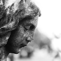 Crying angel in a cemetery.