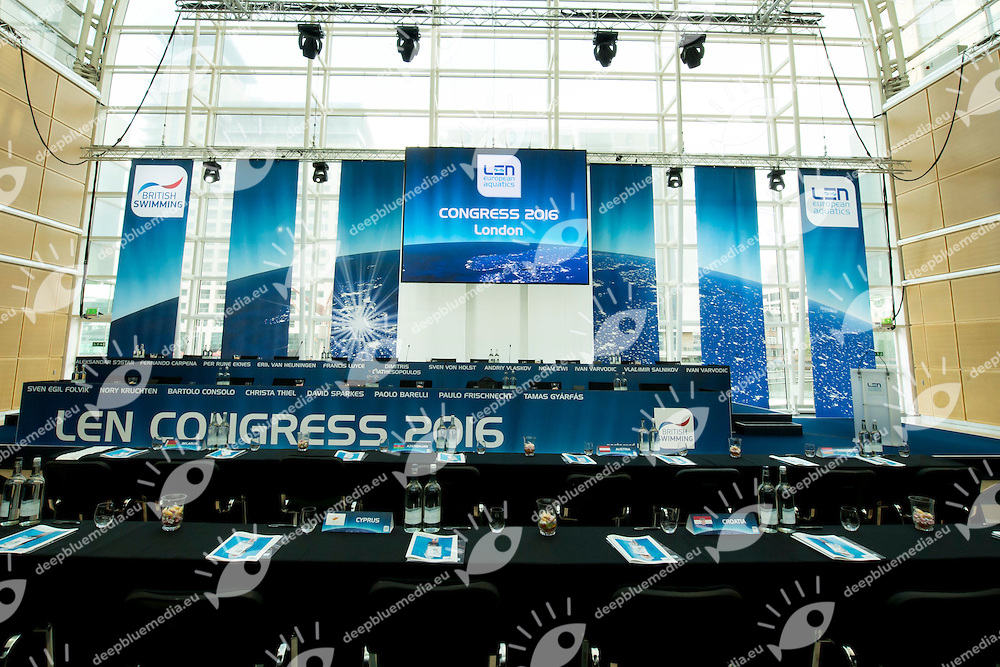 LEN 2016 Extraordinary Congress<br /> London, East Winter Garden, Canary Wharf<br /> Day 0 08-05-2016<br /> Photo Giorgio Scala/Deepbluemedia/Insidefoto