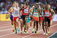 Great Britain, London - 2017 August 10: Marcin Lewandowski (CWZS Zawisza Bydgoszcz) of Poland competes in men's 1500 meters qualification during IAAF World Championships London 2017 Day 7 at London Stadium on August 10, 2017 in London, Great Britain.<br /> <br /> Mandatory credit:<br /> Photo by © Adam Nurkiewicz<br /> <br /> Adam Nurkiewicz declares that he has no rights to the image of people at the photographs of his authorship.<br /> <br /> Picture also available in RAW (NEF) or TIFF format on special request.<br /> <br /> Any editorial, commercial or promotional use requires written permission from the author of image.