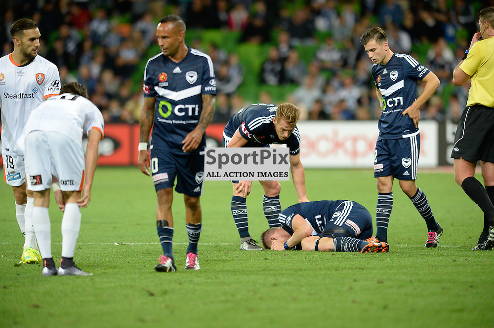 Besart Berisha of Melbourne Victory - Hyundai A-League, January 15th 2016, RD15 match between Melbourne Victory FC v Brisbane Roar  FC in a 4:0 win to Victory in a comfortable win over Roar at Aami Park,  Melbourne, Australia. © Mark Avellino | SportPix.org.uk