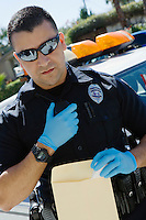 Police Officer Using Two-Way Radio