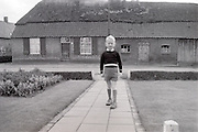 little boy coming home from school 1960s Holland