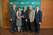 Presidential Research Scholars pose with Ohio University leadership following the ceremony in Baker Ballroom on Oct. 31, 2018. Photo by Hannah Ruhoff