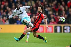 Pedro Mba Obiang of West Ham United passes the ball. - Mandatory by-line: Alex James/JMP - 11/03/2017 - FOOTBALL - Vitality Stadium - Bournemouth, England - Bournemouth v West Ham United - Premier League
