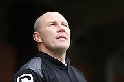 Walsall manager Jon Whitney during the EFL Sky Bet League 1 match between AFC Wimbledon and Walsall at the Cherry Red Records Stadium, Kingston, England on 25 February 2017. Photo by Stuart Butcher.