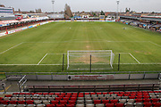 General stadium view during the Vanarama National League match between Dagenham and Redbridge and Forest Green Rovers at the London Borough of Barking and Dagenham Stadium, London, England on 11 March 2017. Photo by Shane Healey.