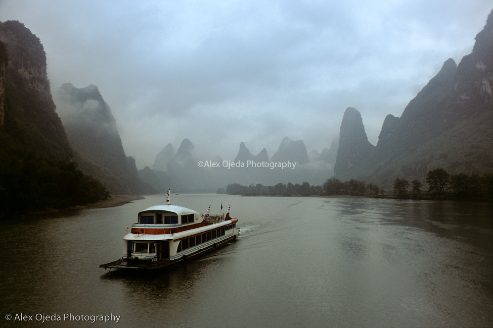 Boat in Guilin River, China