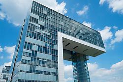 Modern commercial office building in Kranhaus or Cranehouse in Rheinauhafen property development in Cologne Germany