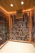 Wine cellar of Palm Springs home