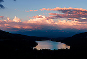 Large Panorama of Donner Lake Sunset near Truckee, California