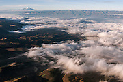 Chimborazo Volcano (Highest mountain in Ecuador) in distance<br /> Andes<br /> ECUADOR, South America