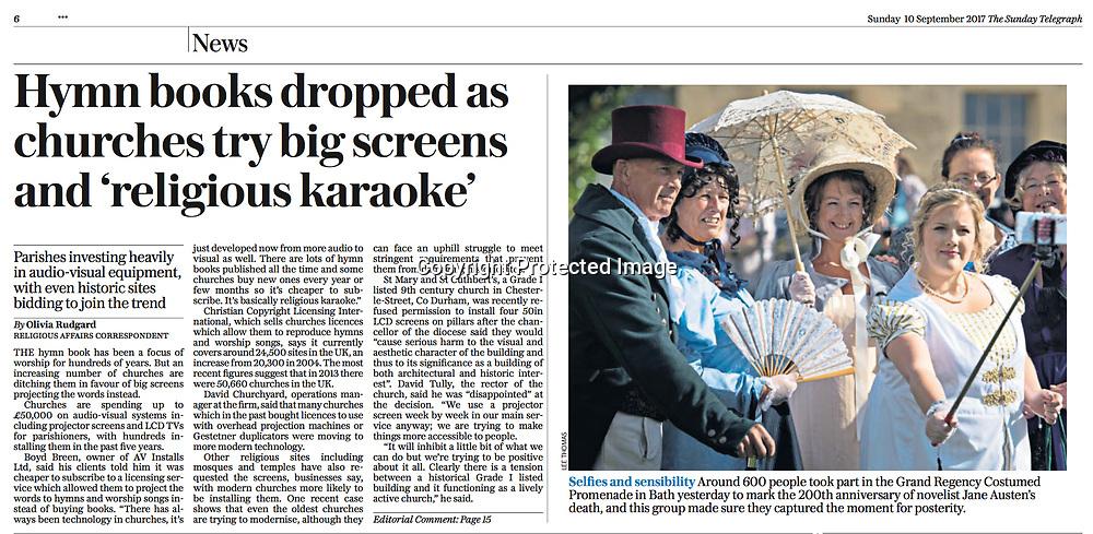 The Sunday Telegraph - 10th September 2017