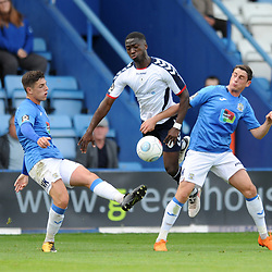 TELFORD COPYRIGHT MIKE SHERIDAN 15/9/2018 - Daniel Udoh of AFC Telford during the Vanarama Conference North fixture between AFC Telford United and Stockport County.