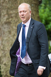 Downing Street, London, July 5th 2016. Leader of the House of Commons Chris Grayling arrives at 10 Downing Street for the weekly cabinet meeting