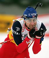 Biathlon, 09. december 2004, World Cup, Oslo, Ole Einar Bjørndalen , Norge