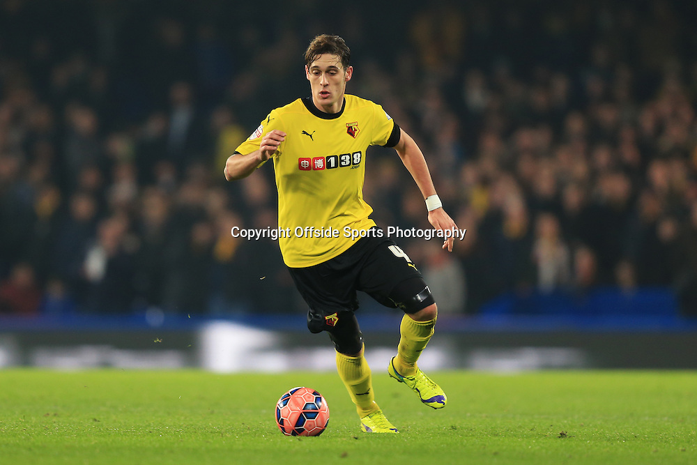 4 January 2015 - The FA Cup 3rd Round - Chelsea v Watford - Gabriele Angella of Watford - Photo: Marc Atkins / Offside.