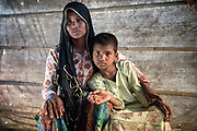 Rohingya refugee crisis. Dildar Begum and her 10-year-old daughter Noor Kalima. Survivors of the massacre at Tula Toli (Min Gyi village) in Mayanmar. Balukhali refugee camp, Cox's Bazar District, Bangladesh - Photograph by David Dare Parker