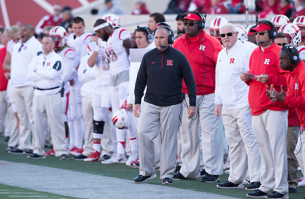The Rutgers Scarlet Knights take on the Indiana Hoosiers at Memorial Field in Bloomington, IN on Saturday afternoon, October 17, 2015.<br /> Ben Solomon/Rutgers Athletics