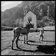 Alpe Devero (ITALIA). Vom Binntal führte früher ein stark frequentierter Säumerpfad ins benachbarte Italien über den Albrunnpass. © Romano P. Riedo
