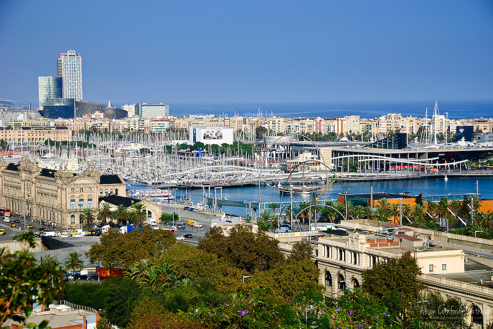 Port Vell or the old harbour of Barcelona, Spain underwent a modern make-over for the 1992 Olympics.