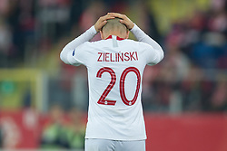 October 11, 2018 - Chorzow, Poland - Piotr Zielinski (POL) during the UEFA Nations league match between Poland v Portugal at the Slaski Stadium on October 11, 2018 in Chorzow  (Credit Image: © Foto Olimpik/NurPhoto via ZUMA Press)
