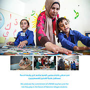 UNRWA poster celebrating World Teachers' Day, 2013.