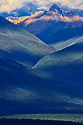 Purcell Mountains at sunrise, Radium, British Columbia, Canada