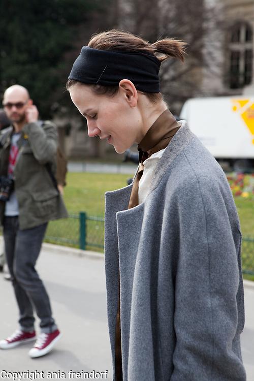 Paris Fashion Week Mugler Womenswear Fall/Winter 2015/2016 on March 7, 2015 in Paris, France, Saskia de Brauw model