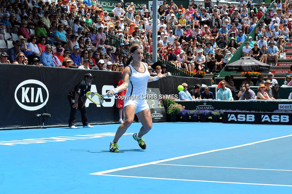 Svetlana Kuznetsova during the ASB Tennis Classic Day 2, ASB Tennis Centre, Auckland, New Zealand. Tuesday 3 January, 2012. Photo: Chris Symes/www.photosport.co.nz