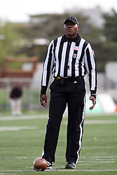 06 October 2012:  Umpire Ed Feaster during an NCAA football game between the Southern Illinois Salukis and the Illinois State Redbirds at Hancock Stadium in Normal IL