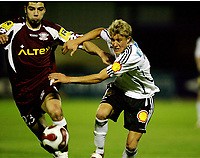 Fotball , 17. januar 2007 ,  Maspalonas , Grand Canaria , Rosenborg - Rapid de Bucarest  <br /> Per Ciljan Skjelbred , Rosenborg og Marius Constantin , Rapid