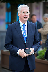© Licensed to London News Pictures. 04/10/2017. Manchester UK. Defence Secretary Michael Fallon leaves the Midland hotel this morning ahead of Theresa May's speech on the third & final day of the Conservative Party Conference today in Manchester. Photo credit: Andrew McCaren/LNP