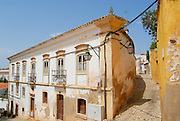 SILVES, PORTUGAL - July 18, 2006: Exterior of the historical buildings in Silves, Portugal.