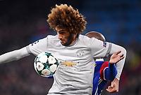 FUSSBALL CHAMPIONS LEAGUE SAISON 2017/2018 GRUPPENPHASE FC Basel - Manchester United FC          22.11.2017 Marouane Fellaini (vorn, Manchester United FC) mit Ball gegen Eder Balanta (hinten, FC Basel)