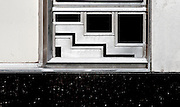 Geometric, stainless steel, Art Deco detail on the 42nd Street facade of the Chrysler Building