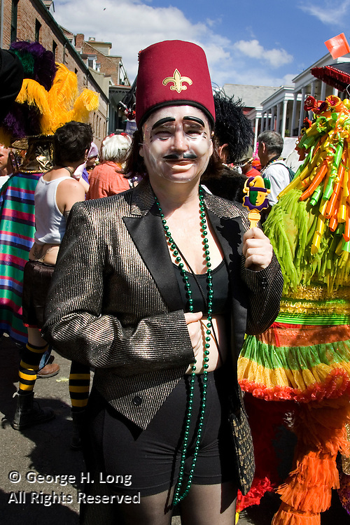 Sarah Eileen Hoffpauir at Mardi Gras in the French Quarter and Faubourg Marigny of New Orleans