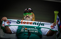 Supporters of Slovenia during basketball match between Women National teams of Italy and Slovenia in Group phase of Women's Eurobasket 2019, on June 30, 2019 in Sports Center Cair, Nis, Serbia. Photo by Vid Ponikvar / Sportida