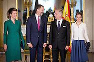 11-11-2014 - BELGIUM - BRUSSEL King and Queen of Spain King Felipe VI and Queen Letizia visit one day Belgium and meet Queen Mathilde and king philip of Belgium. COPYRIGHT ROBIN UTRECHT