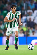 SEVILLE, SPAIN - OCTOBER 15:  Aissa Mandi of Real Betis Balompie in action during the La Liga match between Real Betis and Valencia at Estadio Benito Villamarin on October 15 in Seville.  (Photo by Aitor Alcalde Colomer/Getty Images)