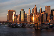 New York. general view on lower Manhattan,  Brooklyn bridge and east river , New York - United states  / vue generale sur  le bas de la ville, le pont de Brooklyn et l'east river, Manhattan  New York - Etats-unis